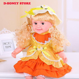 Wholesale Girls Singing - Adorable reborn babies talking doll toys 50CM soft touch smart touch singing making baby sound dolls for girls birthday gift