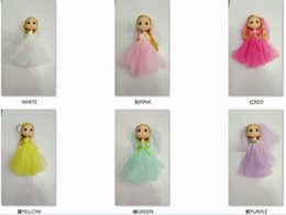 Wholesale Mini Doll Dress - 18CM JBD mini barbie ddung dolls for girl child beautiful dress doll toys small pendant school bag keying