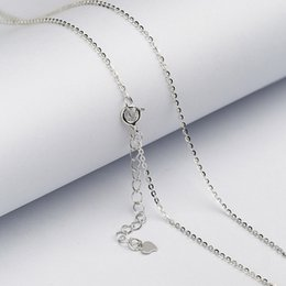 Wholesale Abalone Jewelry Making - Wholesale 925 Sterling Silver Chain Necklace with Clasp for Jewelry Making Cross Starry wave box chain Clavicle necklace