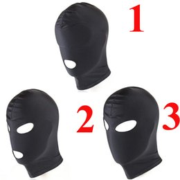 Wholesale Mask Sex Toy - Fetish Harness Head Hood BDSM Slave Game Bondage Restraints Face Mask Blindfold Sex Toys For Couple