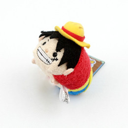 Wholesale tsum plush - Wholesale- Original TSUM Japan Anime One Piece Luffy Trafalgar Law Stuff Mini Plush Toy Birthday Gift Phone Screen Cleaner