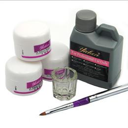 Wholesale Acrylic Nails Kit Set - Wholesale- Hot Sale Pro Acrylic Nail Powder Liquid 120ML Brushes Deppen Dish Acryl Poeder Nail Art Set Design Acrilico Manicure Kit 153#