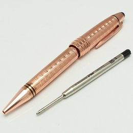 Wholesale Office Clip Art - Luxury MT JOHN F. KENNEDY rose gold roller ball ballpoint pen Fountain pen With JFK Clip Stationery school metal Writing MB Pens