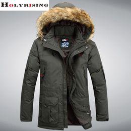 Wholesale woven trim - Wholesale- M-4XL men down coat winter coat men down coat jaqueta masculina hooded fur collar warm windbreaker male fashion parka