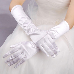Wholesale Stain Gloves Finger - Free Shipping Newest Style Long Laciness Dress Gloves Wedding Gloves Stain Bridal Gloves Wedding Dress Accessories 2018