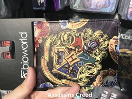 Wholesale Business Card Badge - Classic wallet Harry Potter Hogwarts badge penthgram Coin purse Student Personality Original Coin purse Clutch bag Wholesale