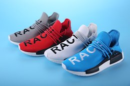 """Wholesale Cheap Buckled Boots - 2017 Originals high Quality NMD """"HUMAN RACE"""" Pharrell Williams X Wholesale Men Women Classic Cheap Fashion Running Shoes With Box"""