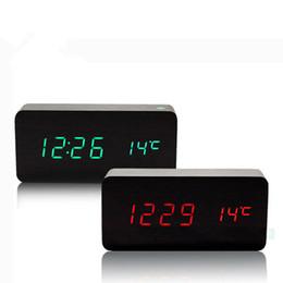 Wholesale Reloj Despertador Led - Wholesale-2016 cute desktop clock mesa de som Electronic Led reloj despertador sounds control Alarm clocks Digital LED Clocks Home decor