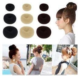Wholesale Bump Hair - Hot Selling Hair Rubber Bands Hair Volumizing Scrunchie Donut Ring Style Bun Scrunchy Sock Poof Bump It Snooki 1000pcs Free shipping