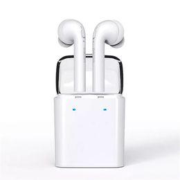 Wholesale Dacom Bluetooth Headset - Dacom MINI Double-ear twins Wireless Bluetooth Headset True Wireless Technology Sport Earphone For smart phone 7 7s xiaomi