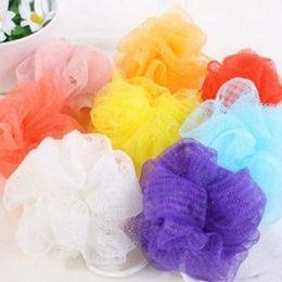 Wholesale Net Puffs Shower - Wholesale-Soft Shower Exfoliate Puff Mesh Net Ball Random Color Body Bath Brush Bath Sponge Body Wash