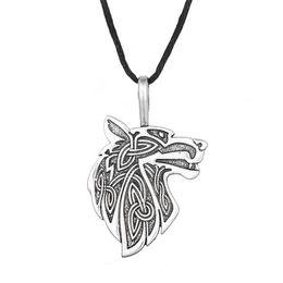 Wholesale Fox Day - Odin's Steed Viking Steam punk Pendant Scandinavian Norse Wolf Supernatural Amulet Knot Fox Animal Wolf Necklace Freeshipping