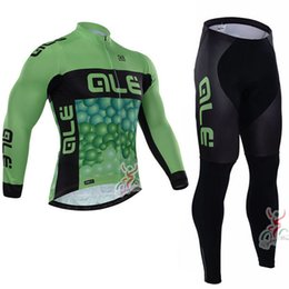 Wholesale Cheap Bicycle Pants - Cycling Clothing ALE Men's long bib pants sleeve jersey ropa ciclismo hombre maillot ciclismo Breathable cheap-clothes-china Bicycles L2803