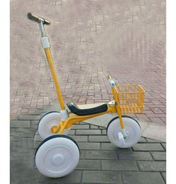 Wholesale Baby Bicycle Stroller - Wholesale-Children Tricycle Bicycle Cart Baby Tricycle Stroller Bicycle Bike Child Three Wheels Pushchair Car with Shopping Basket 3~14 Y