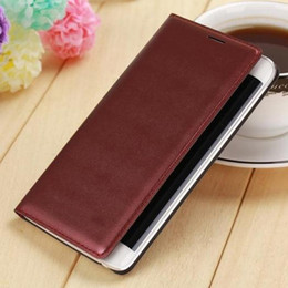 Wholesale Note Housing Case - Slim Leather Wallet Case Battery Housing Shell Flip Back Cover With Card Holder Cell Phone Cases For Samsung Galaxy Note Edge N9150