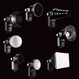 snoot flash Promotion Wholesale-SETTO 9 in1 Accessoires Flash Barndoor Snoot softbox Honeycomb Beauty disque / Diffuseur pour Speedlite Flash Lightlight