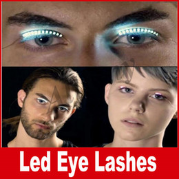 Wholesale Halloween Lashes - Interactive Lashes LED Eyelashes Pupular Glowing Eyelashes Waterproof for Dance Concert Christmas Halloween Nightclub Party Goods