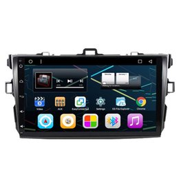"""Wholesale Dvd Corolla 3g - 9"""" Quad Core Android 6.0.1 System Car DVD Radio For Toyota Corolla 2006-2011 GPS Navi Stereo WIFI 3G OBD DVR Steering Wheel Control RDS"""