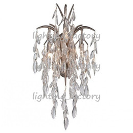 Wholesale Crystal Chandelier Wall Sconces - Tantop New Fashion Crystal chandeliers Wall lamp Sconce LED Light Vintage wall light in wholesale price