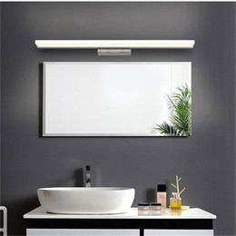 Wholesale Lighted Wall Makeup Mirror Led - promotion modern style wall mounted 40CM 60CM 80CM 1M Acrylic LED light bathroom mirror wall light lamp makeup lighting