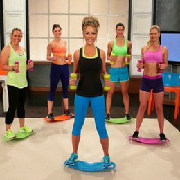 Wholesale Fitness Exerciser - Fit Board Balance Board Yoga Fitness Sports Trainer Workout Board Yoga Sit Up Benches 4 colors Fedex DHL Free