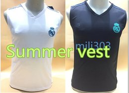 Wholesale Sleeveless Vests - Top quality RONALDO jersey 2017 2018 Real Madrid shirt SERGIO RAMOS KROOS BENZEMA JAMES BALE ISCO 17 18 adult Summer vest
