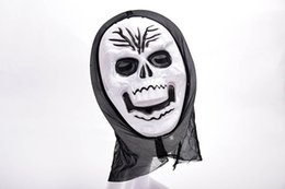 Wholesale Ghost Scream Mask - Funny Full Face PVC Realistic Scary Horror Mask Halloween Death Ghost Witch Grimace Scream Masks Party Mask Cosplay Costume Prop