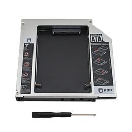 Ide hdd caddy online-Großhandels-Nagelneuer 2. HDD Caddy 12.7mm IDE zu SATA 3.0 2.5 Zoll SSD HDD Festplattenlaufwerk-Gehäuse-Kasten für Notizbuch CD-Rom Optibay