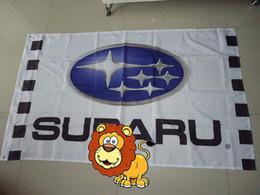 Mostrar pancartas online-exhibición del coche bandera del espectáculo de coches subaru para el servicio, bandera del coche subaru, tamaño 90X150CM, 100% polyster