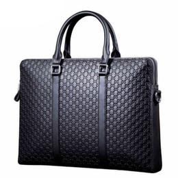 Wholesale Computer Hard - Man briefcase leather bag computer horizontal style portable bag