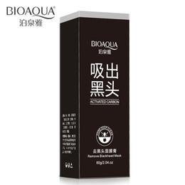 Wholesale Cleansing Beauty Oil - Fast DHL 500pcs lot BIOAQUA Black Mask Black Head Face Mask Blackhead Facial Mask Deep Cleansing Beauty Facial Skin Care