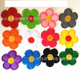 Wholesale Wholesale Flower Motif - Wholesale-free shipping 120pcs different smail faces Embroidered Cloth Iron On Patch Sew Motif Applique Embroidery Flower
