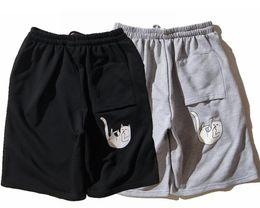 Wholesale Khaki Overalls Men - RIPNDIP Skateboard sup Shorts New Men Summer Style Fashion Loose Overalls Vintage Army Cargo Camo Combat Trouser Shorts