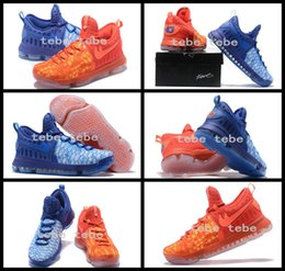Wholesale Cheap Kd Sneakers - 2017 New KD9 What the KD 9 Fire & Ice Basketball Shoes Men Cheap Kds Kevin Durant 9 Sports Sneakers Size 40-46 for sale