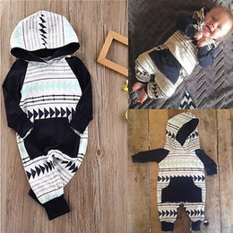 Wholesale Baby Rompers Sleepwear - Wholesale- 2016 Autumn&Winter Baby Boy Clothes Baby Rompers cotton Newborn Clothing One Piece baby girl clothes Romper Hooded Sleepwear