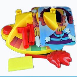 Mostrar creme on-line-Segunda Geração Duplo Torta de Creme Rosto Show Down Game Máquinas Smashing New Brinquedos Exóticos Moda Para Crianças Brinquedos de Socorro Presentes de Natal Engraçado