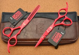 Wholesale Wholesale Thinning Shears - Wholesale- 727# 5.5'' 16cm Kasho TOP GRADE Hairdressing Scissors 440C Individuation Barbers Cutting Scissors Thinning Shears Hair Scissors