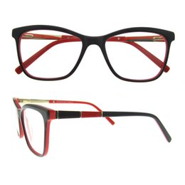 Wholesale Colorful Handmade Bag - Fashion hit color frame design with Rectangle Lens Colorful Handmade Acetate Glasses Spring Hinge Optical Eyeglasses