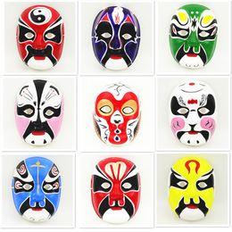 Wholesale Decorating Masks - Ethnic Beijing Opera Party Mask Masquerade Masks Mens Decorating Full Face Paper Pulp China Crafts Wholesale ZA4620