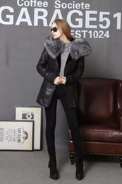 Wholesale Long Fur Coat Model - 2017 Winter Jacket Women Coats thick Artificial Fashion Slim Suede Female Models leather Fox Fur Collar