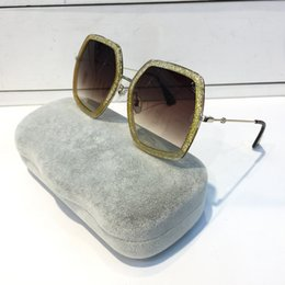 Wholesale Color Pc Case - 0106 Sunglasses Luxury Women Brand Designer Fashion Square Big Summer Style Mixed Color Frame Top Quality UV Protection Lens Come With Case