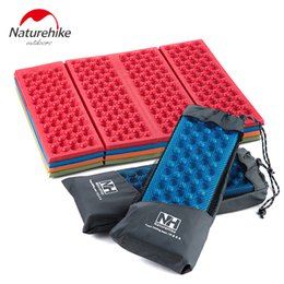 Wholesale Grass Chairs - Wholesale- 2PCS Naturehike Outdoor Folding Camping Mat Cushion 4 Colors Single Person Portable Wearproof Chair Moisture Pad Camp Grass Mat