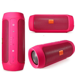 Wholesale Audio Used - Charge 2 + Stereo wireless Bluetooth Outdoor speaker nice sound phone call Mini Speaker Waterproof Speakers Can Be Used As Power Bank
