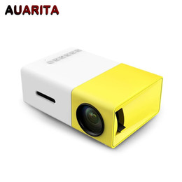Wholesale mini movie projectors - Wholesale- YG300 micro mini portable projector HD Pocket LED projector for Video Home Theatre Movie Support HDMI USB SD Home Media Player