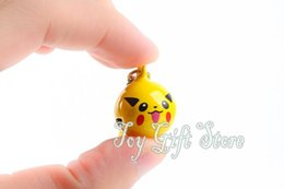 Wholesale Metal Bell Charms - Free shipping Pikachu Cell Phone Strap JINGLE BELLS Dangle Charms Fashion Toy Good For Gift New