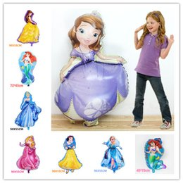 Wholesale Decorative Models - HOT balloons Giant Princess Sofia Helium Balloon Queen Sophia Aluminum foil Ballons princess Birthday Party Decoration Inflatable Air