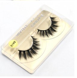 Wholesale Long Natural Feather Extension - Mink False Eyelashes makeup 100% Real Mink Natural Thick False Fake Eyelashes Eye Lashes Makeup Extension Beauty Tools 8A16