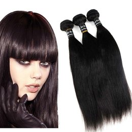 Wholesale Cambodian Extensions - Brazilian Virgin Human Hair Weaves Bundles Unprocessed 8-34inch Peruvian Indian Malaysian Cambodian Straight Remy Human Hair Extensions