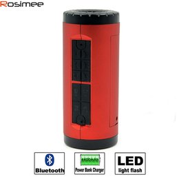 Wholesale Bicycle Built - Wholesale-Portable Bicycle Bluetooth Speaker Stereo Super Bass Subwoofer Soundbox Support TF Card LED FM Wireless Loundspeaker