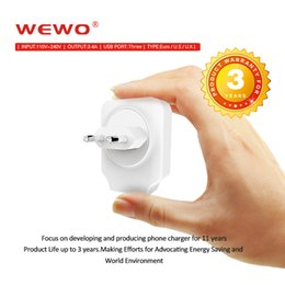 Wholesale Moblie Phone Charge - WEWO 5V 3.4A Fast Charge Powerbanks USB Travel Chargers Plugs US EU UK standard Wall Moblie Phone adapter for iPhone 5 5s 6 ipad Samsung